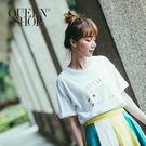 Queen Shop【01037110】繽紛夏日比基尼女孩短袖棉T*現+預*