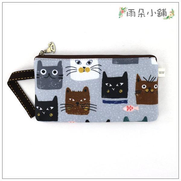 筆袋 包包 防水包 雨朵小舖D01-616 筆袋-灰方方貓頭11044 funbaobao