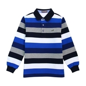 『小鱷魚童裝』經典條紋POLO衫(08號~18號)536102