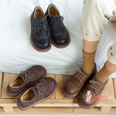 娃娃鞋 圓頭娃娃鞋日系小皮鞋女小學真的分享店同款鞋大頭鞋 2色35-40