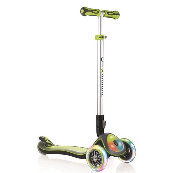 Globber Elite Lights 閃輪三輪滑板車 (綠色)