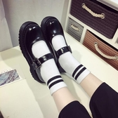 松糕鞋女日系jK制服鞋原宿圓頭小皮鞋厚底軟妹鞋子學院娃娃單鞋女