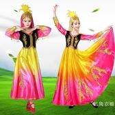 舞蹈演出服裝女少數民族長裙表演服飾兒童成人維吾爾族大擺裙