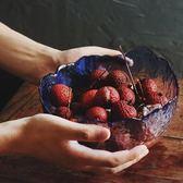點心盤創意透明玻璃碗水果盤家用果盆大號蔬菜沙拉碗   古梵希
