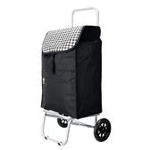WEEY 可拆式 加大靜音輪 購物車 菜籃車 載運車(黑格)29-020D2