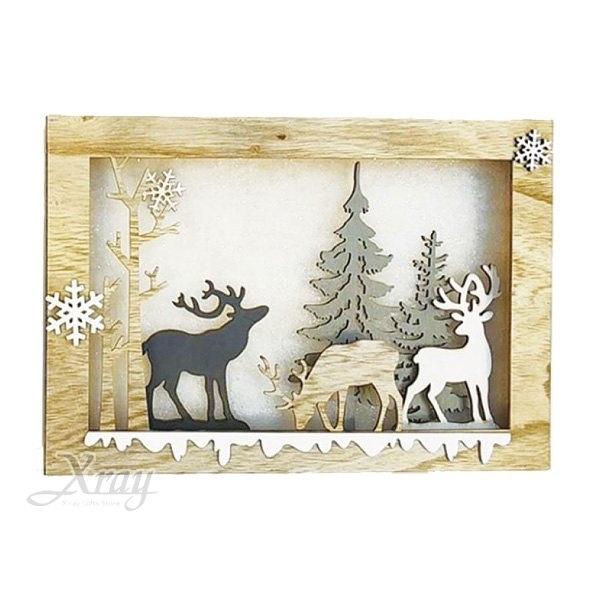 節慶王【X020787】木製鹿群,聖誕節/LED燈/聖誕木製品/門市佈置/櫥窗設計/閃燈/裝飾/擺飾