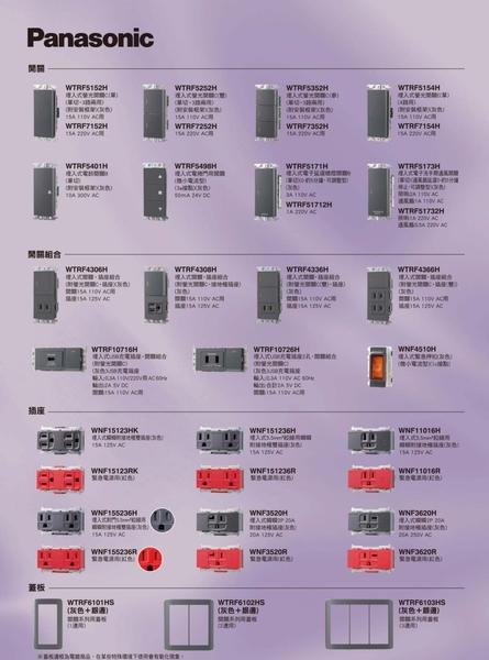 國際牌 Panasonic RISNA 系列 埋入式網路資訊插座(CAT6) 8極8芯 組合 NRF3170H 灰色