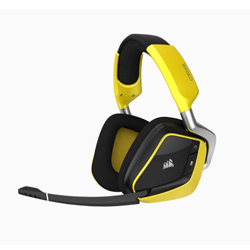 Corsair 海盜船 VOID PRO RGB 無線SE高級遊戲耳機 黃色
