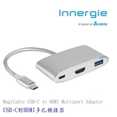 台達電Innergie MagiCable USB-C to HDMI 多工能集線器 銀