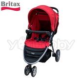 Britax B-Agile (銀管)單手收豪華三輪手推車 -紅色