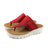 Clarks Unstructured 夾腳涼鞋 紅色 厚底 女鞋 CLF41688SS19 no005