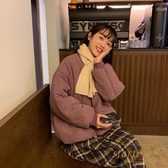 棉服外套女冬短款面包服棉衣韓版寬松棉襖外套【繁星小鎮】