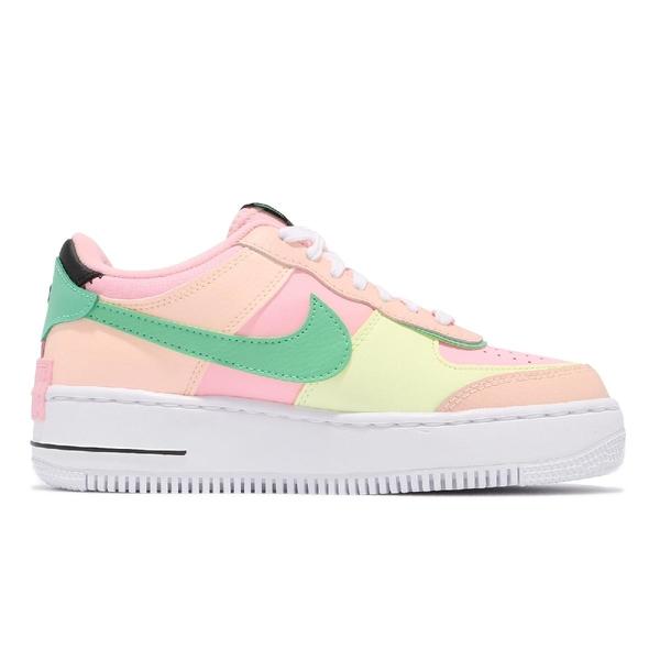 Nike 休閒鞋 Wmns AF1 Shadow 粉紅 粉綠 Air Force 1 女鞋 【ACS】 CU8591-601