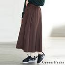 ■Chocol Raffin■  流行多季的前鈕釦喇叭裙 大方簡約設計 令人喜愛