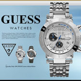 GUESS 時尚魅力休閒腕錶 44mm/GC/男女兼用/防水/WH/計時碼表/X47008G1 現+排單/免運!