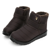 PLAYBOY 冬日暖感 防潑水短筒機能雪靴-咖(Y6765)