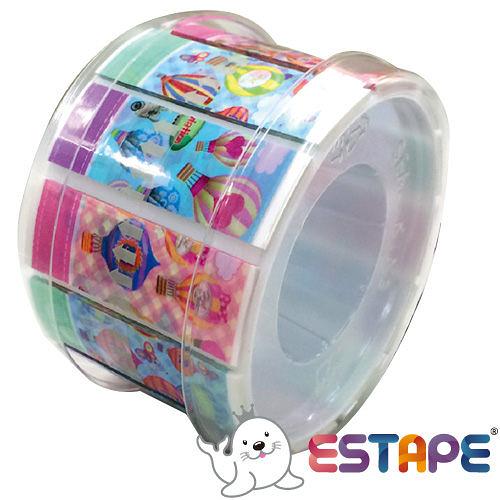 【奇奇文具】王佳ESTAPE RHS3017 抽取式易撕貼 OPP 膠帶/創意膠帶/裝飾膠帶 (熱氣球版組合)