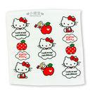 〔小禮堂〕Hello Kitty 紗蘿方形毛巾《白.動作.蘋果.滿版》34x34cm.100%棉 4716171-25276