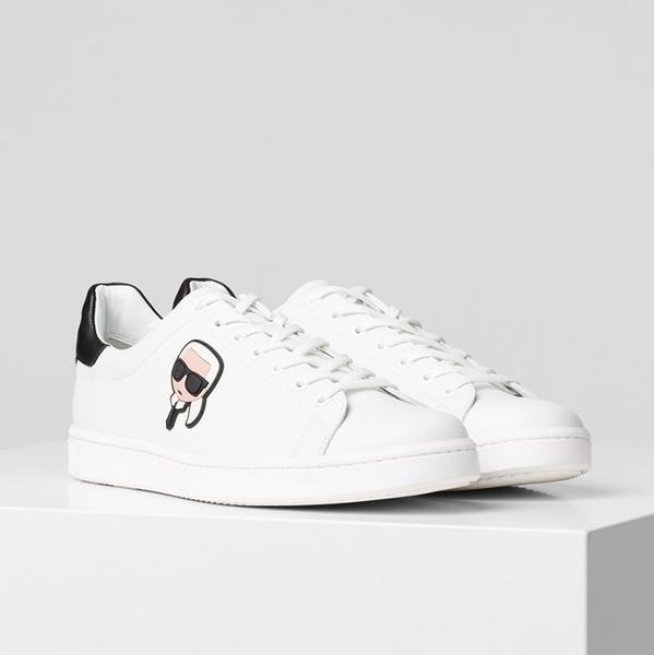 Karl Lagerfeld 卡爾 老佛爺 鞋 KOURT IKONIK 3D綁帶休閒男鞋-白