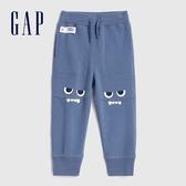Gap男幼童 三維立體趣味圖案針織長褲 619603-霧藍色
