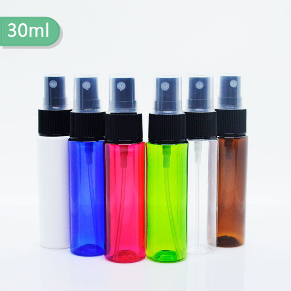 『藝瓶』瓶瓶罐罐 空瓶 空罐 隨身瓶 旅行組 化妝保養品分類瓶 按壓噴瓶 3色頭平肩噴霧分裝瓶-30ml