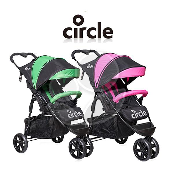 Circle Treviso 3S手推車(粉/綠)【佳兒園婦幼館】