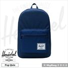Herschel 後背包 防水拉鍊 平板/15吋電腦後背包 藍色 Pop Quiz-2454 得意時袋