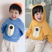 小熊大臉耳朵連帽上衣 童裝 t恤