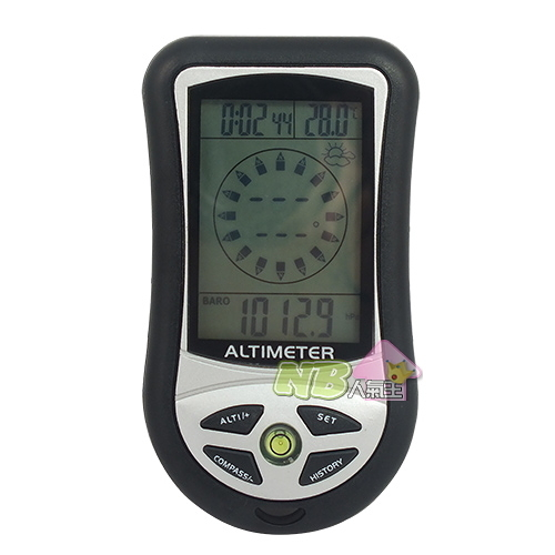 8合1電子高度計 ( 海拔高度計、指南針、氣壓計、溫度計 )