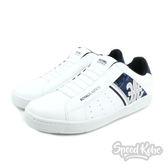 Royal Elastic 白皮革 藍迷彩 銀刺繡 logo 男鞋 02081050☆SP☆