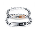 【5折超值價】 最新款歐美風格時尚十字架鑲鑽皓石造型情侶款手鍊