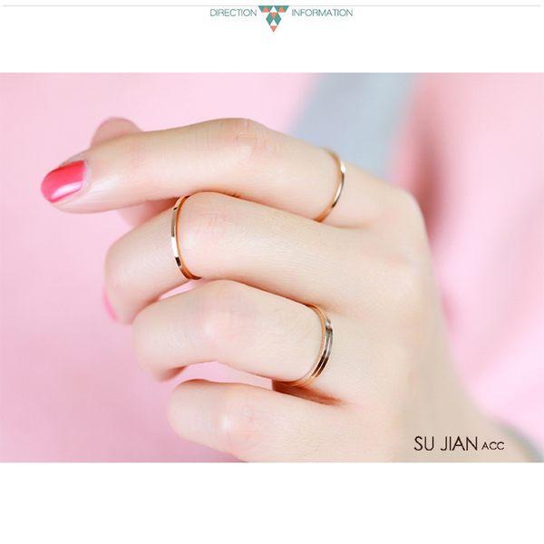 素簡手作《RO001》韓版18k玫瑰金開口可調戒指 尾戒 玫瑰金戒指 十二星座戒指