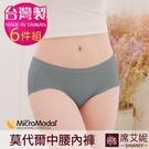 中大尺碼 女性中腰內褲 M/L/XL/2XL 莫代爾纖維 MIT台灣製造 No.8890(6件組)-席艾妮SHIANEY