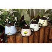 盆栽附蓋馬克杯◆四季百貨◆