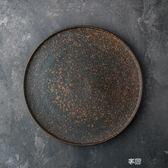 朵頤歐式創意托盤圓形平盤陶瓷大號茶盤家用早餐盤簡約水果盤 享購
