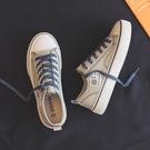 夏季薄款小眾帆布鞋女鞋2021年新款爆款春秋單鞋布鞋球鞋小白鞋子