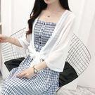 夏季短款防曬開衫女上衣仙女雪紡薄外套搭配吊帶裙的小外披肩罩衫CC3622『美好時光』