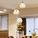 歐式餐廳燈創意吊燈三頭飯廳燈現代簡約單頭...