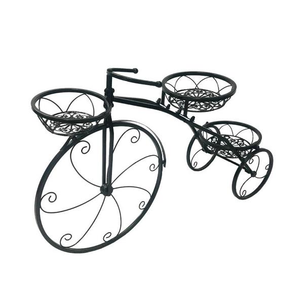 花架 歐式自行車花架落地式多層綠蘿吊蘭花盆架鐵藝室內陽臺家用置物架