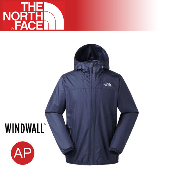 【The North Face 男 防風外套《海軍藍》】2XTC/WindWall/運動版型/登山/健行/防潑水