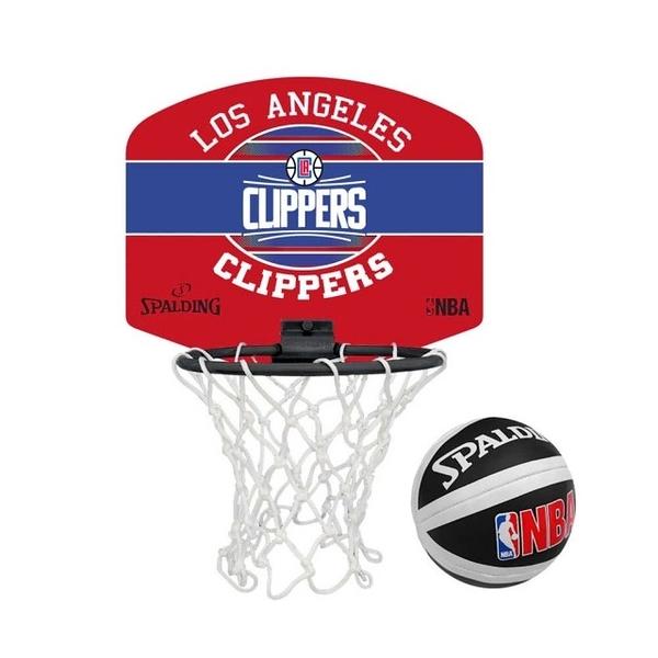 (C5)【SPALDING】NBA 斯伯丁 小籃板-快艇 CLIPPERS-親子 籃框 SPA77652 【陽光樂活】