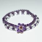 【喨喨飾品】紫水晶鋯石花手鍊 開運飾品 ...
