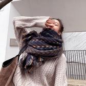 圍巾女秋冬編織小香風時尚仿羊絨百搭披肩兩用保暖圍脖【聚寶屋】