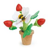 【美國Tender Leaf Toys】草莓盆栽(趣味立體木拼圖)