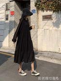 雪紡洋裝春秋韓版裙子女仙女氣質長袖白色雪紡洋裝寬鬆  【全網最低價】