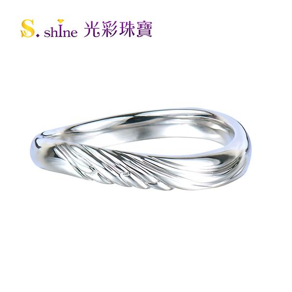 【光彩珠寶】婚戒 日本鉑金結婚戒指 男戒 雙宿雙飛II