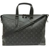 【Louis Vuitton 路易威登】M40566 Briefcase Explorer系列手提/肩揹兩用公事包(黑灰)
