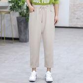 中大尺碼~抽繩式鬆緊腰長褲(XL~4XL)