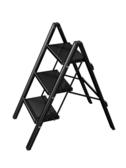 梯子多 家用小梯子折疊加厚鋁合金花架梯凳三步便攜置物馬凳