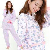日本雙子星睡衣套裝長袖上衣+睡褲拿棉花糖月亮610376通販屋